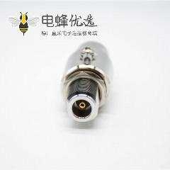 同轴避雷器N头公头转母头N-JKY直式IP67镀镍射频防雷器