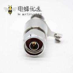 N型避雷器N-JKY公头转母头直式IP67镀镍同轴避雷器