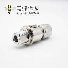 射频避雷器N公头转N母头N-JKYIP67镀镍180°同轴避雷器