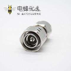 射频转接头N头直式公头转4.3-10公头同轴镀镍