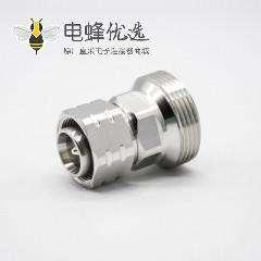 din型7 16母头转4.3/10公RF转接头直式镀镍同轴连接器