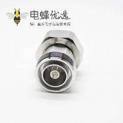 DIN接头7/16公头转母头直式同轴转接头镀镍