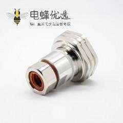 1 2 馈线接头din型公头DIN7/16标准RF连接器180°焊接接线