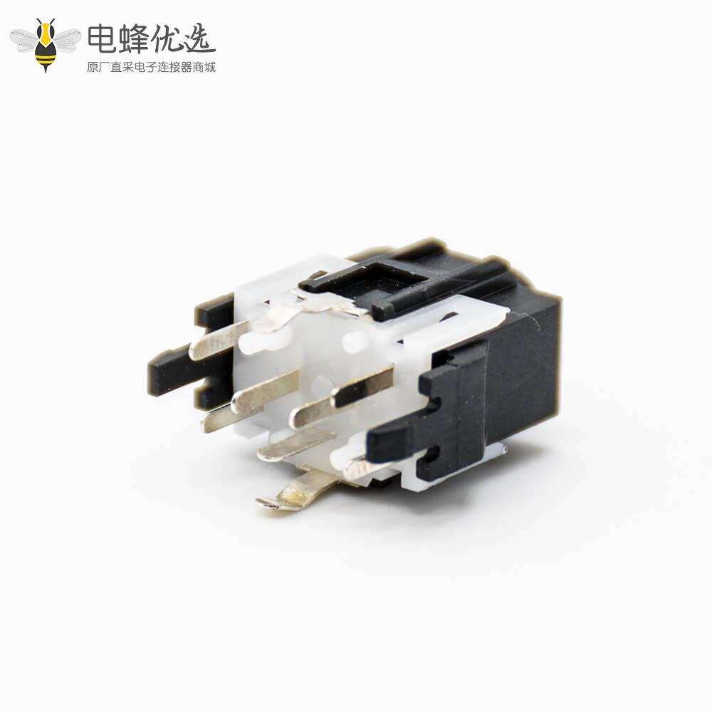 dc直流电源插座母插座不带屏蔽插孔贴片焊接直式塑料黑色