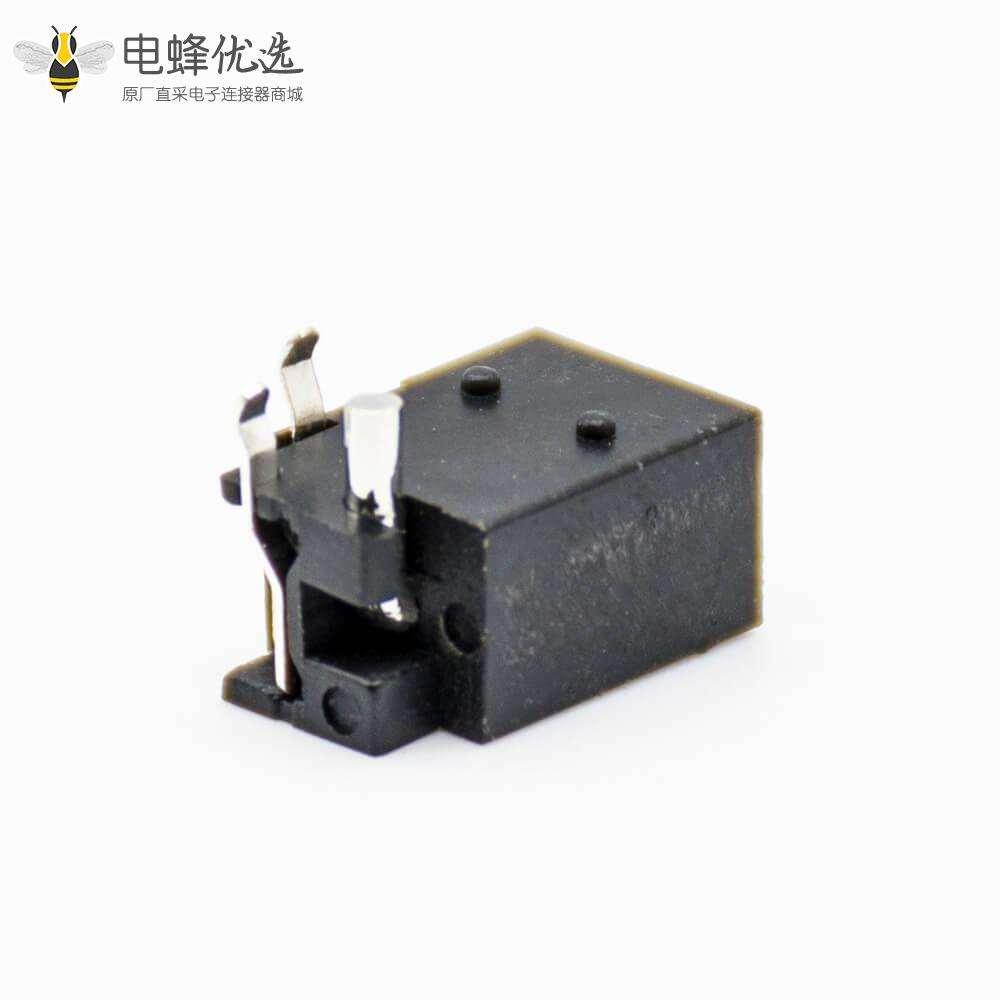 dc电源插座引脚贴片焊接弯式公插座电源连接器不带屏蔽