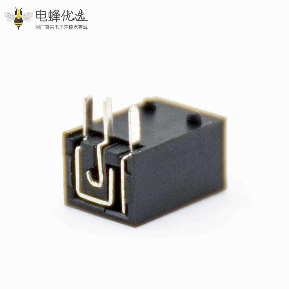 插座电源接口公座DC贴片焊接塑料弯式黑色插孔