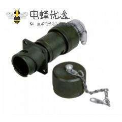 JL系列电连接器压接直式92壳体4芯插座卡口连接4孔法兰