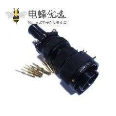 轨道连接器JL公插头19芯卡扣连接直式焊接美标接线