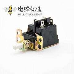 双电源开关KDC-A04双刀双掷4孔4脚90度弯插250V-5A中心孔距25mm