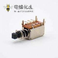 PS-22E05按键开关双刀双掷黑色贴板安装50VAC-0.3A-8P