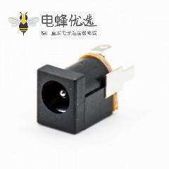 dc插座3脚立式公插座插孔直式贴片焊接DC电源连接器塑料