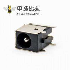 dc电源插座公插座,插孔贴片焊接弯式不带屏蔽塑料