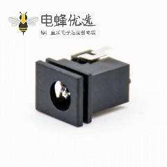电源接口插座DC插孔塑料贴片焊接公插座直式不带屏蔽电源连接器