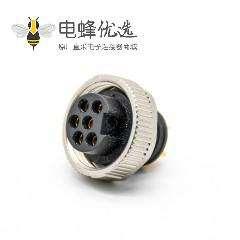 7/8连接器注塑头6芯母头接线焊线直式非屏蔽