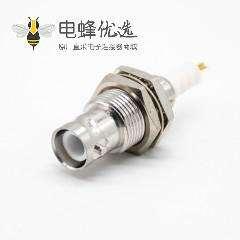 SHV接头前锁公头直式面板安装焊线连接器