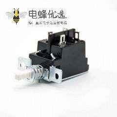 双刀双掷KDC-A04电源开关90度弯插2孔4脚250V-5A铜心孔距25mm