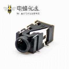 充电器dc电源插座贴片焊弯式DC电源连接器不带屏蔽塑料