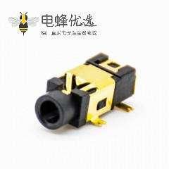 电源连接器DC母插座插孔贴片焊接弯式不带屏蔽塑料