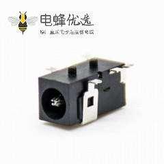 贴片dc电源插座公弯式贴板塑料不带屏蔽贴片焊接