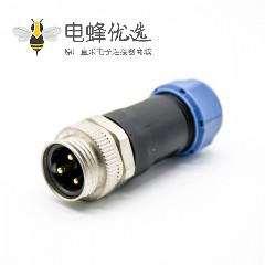 7/8连接器3芯公头接线焊线直式组装式不带屏蔽