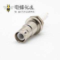 SHV型连接器母头后锁板焊线直式面板安装直式连接器