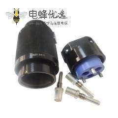 3芯圆形插头公头6壳公头直式压接JL牵引机车连接器