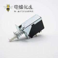 TV-5电源开关单刀单掷2孔2脚250V-5A外弹簧TV-5中心孔距20mm
