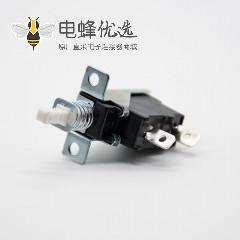 开关式电源开关90度弯插2孔2脚单刀单掷250V-5A外弹簧KDC-A04中心孔距20mm