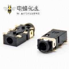 贴片dc插座不带屏蔽,塑料母插座弯式插孔贴片焊接DC电源连接器