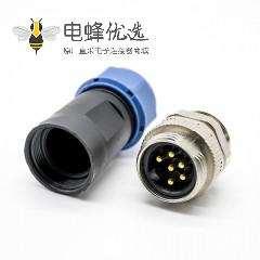 7/8连接器6芯公头现场组装式焊线直式不带屏蔽