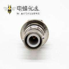 SHV连接器后锁板公头面板安装焊线直式连接器