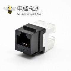 非屏蔽RJ45插座8P8C直式插孔六类面板安装网络模块连接器