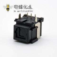 光纤发射接收头直插式自动门单头光纤插座弯式插孔面板安装