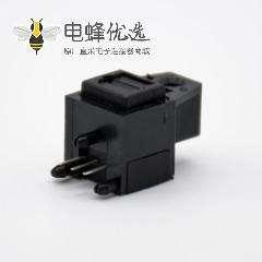 自动门光纤接收发射头单头光纤插座弯式插孔面板