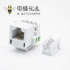 RJ11模块单端口4芯CAT3电话模块PCB板安装非屏蔽网络连接器
