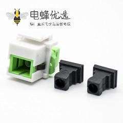 FC单模光纤模块插孔塑料不带屏蔽面板安装光纤模块
