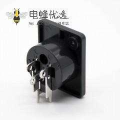 XLR麦克风插座3芯卡侬母插座插孔面板安装90度弯
