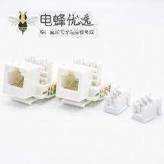 电话接口模块RJ11单端口4芯插座语音电话模块CAT3非屏蔽PCB板安装