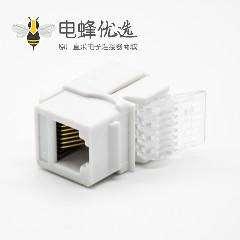 RJ11免打模块90度非屏蔽电话模块三类单端口