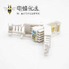 六类RJ45非屏蔽水晶头Cat6免打直式8芯网络插头