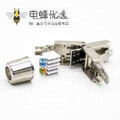 六类RJ45信息模块插头带屏蔽免打网络插头