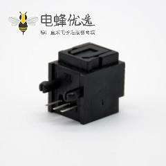 光纤座子自动门单头光纤插座弯式插孔面板安装