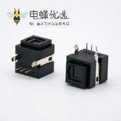 光纤接收端子发射端座子自动门单头光纤插座弯式插孔面板安装