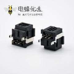 光纤接收插座发射插座自动门单头弯式插孔面板安装