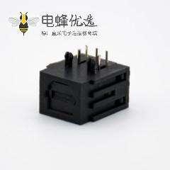 光纤发射端座子接收端座子自动门单头光纤插座弯插孔面板安装