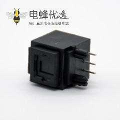 光纤插座自动门单头接收发射光纤传输插座弯式插孔面板安装