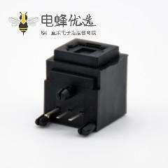 GQ光纤插座自动门单头光纤插座弯式插孔面板