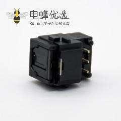 光纤插座GQ沉板式自动门单头光纤插座弯式沉板面板