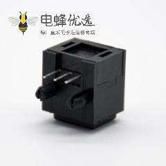 光纤发射头接收头自动门单头光纤插座弯式插孔面板