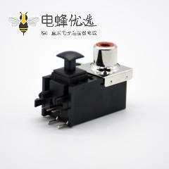 光纤接收头发射头单RCA+光纤插座弯式插孔面板